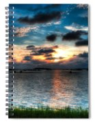 Sunset On Cedar Key Spiral Notebook
