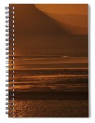 Sunset On Coast Of North Wales Spiral Notebook