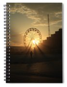 Sunset On Daytona Beach Spiral Notebook