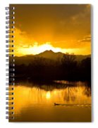 Sunset On Golden Ponds Spiral Notebook