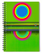 Sunset On Green Spiral Notebook