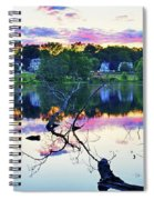 Sunset On Kenoza Lake Haverhill Ma Reflection Spiral Notebook