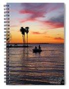 Sunset On Lake Dora At Mount Dora Florida Spiral Notebook