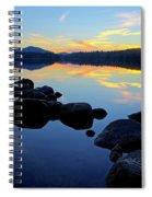 Sunset On Lake Harris 2 Spiral Notebook