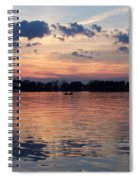 Sunset On Lake Mattoon Spiral Notebook