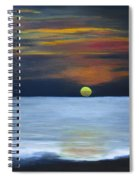 Sunset On Lake Michigan Spiral Notebook