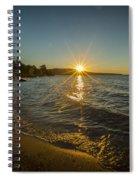 Sunset On Lake Superior Spiral Notebook