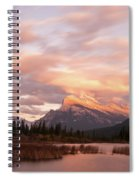 Sunset On Mount Rundle Spiral Notebook