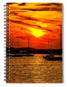 Sunset On Muskegon Lake Spiral Notebook