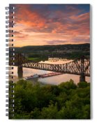 Sunset On Ohio River  Spiral Notebook