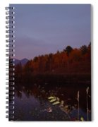 Sunset On Percy Peaks Spiral Notebook