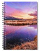 Sunset On Sparks Marsh Spiral Notebook