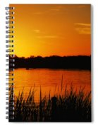 Sunset On The Alafia Spiral Notebook
