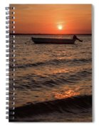 Sunset On The Bay Lavallette New Jersey  Spiral Notebook