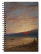 Sunset On The Beach At Sark Spiral Notebook