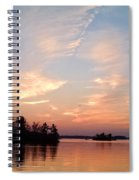 Sunset On The Chippewa Spiral Notebook