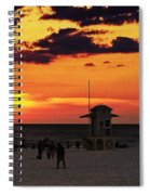 Sunset On The Clearwater Beach Spiral Notebook