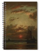 Sunset On The Coast 1870 Spiral Notebook