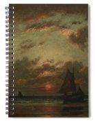 Sunset On The Coast Spiral Notebook