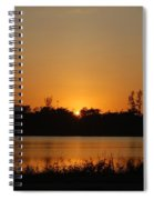Sunset On The Edge Spiral Notebook