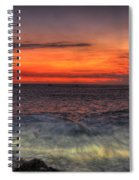 Sunset On The Harbor Spiral Notebook
