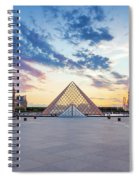 Sunset On The Louvre Spiral Notebook
