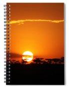 Sunset On The Mara Spiral Notebook