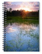 Sunset On The Marsh Spiral Notebook