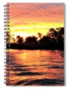 Sunset On The Murray River Spiral Notebook