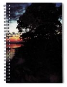 Sunset On The Ocean Spiral Notebook