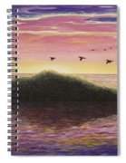 Sunset On The Pacific Spiral Notebook