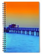Sunset On The Pier Spiral Notebook