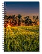 Sunset On The Prairie Spiral Notebook