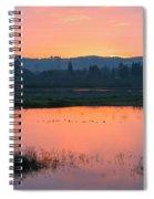 Sunset On The Refuge Spiral Notebook