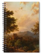 Sunset On The Rhine Spiral Notebook