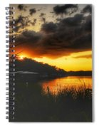 Sunset On The River Spiral Notebook
