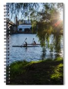 Sunset On The River - Seville  Spiral Notebook