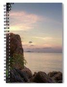 Sunset On The Rocks Spiral Notebook