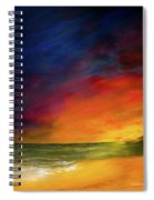 Sunset On The Shore Spiral Notebook