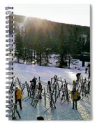 Sunset On The Slopes Spiral Notebook