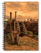 Sunset On The Tractors Spiral Notebook