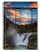 Sunset On The Upper Falls Spiral Notebook