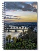 Sunset On The Vltava Spiral Notebook