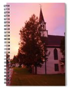 Sunset On The Whitefield Methodist Church Spiral Notebook