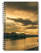 Sunset On The Willamette River Spiral Notebook