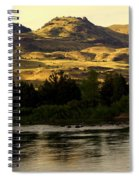 Sunset On The Yellowstone Spiral Notebook