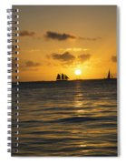 Sunset On Two Masts  Spiral Notebook