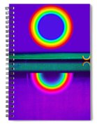 Sunset On Violet Spiral Notebook
