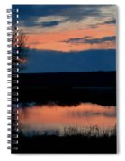 Sunset On Willow Pond Spiral Notebook