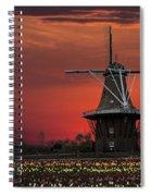 Sunset On Windmill Island Spiral Notebook
